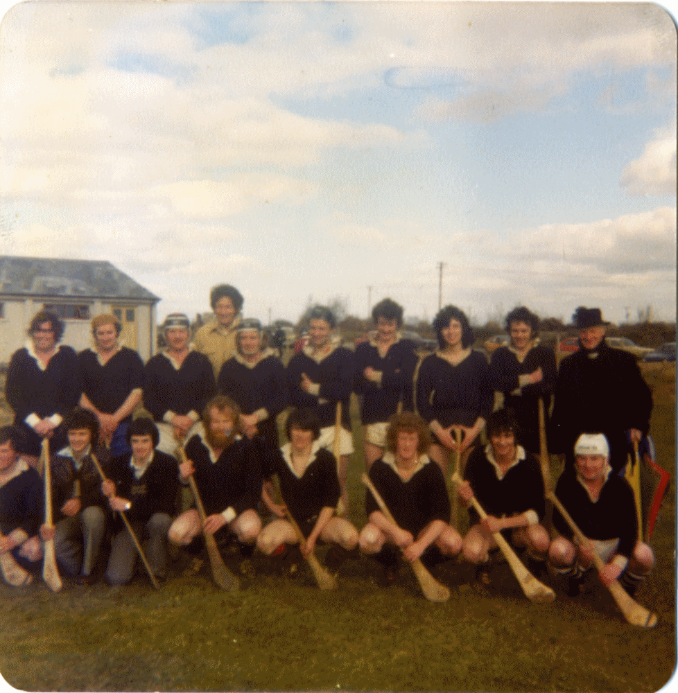Back Row (L to R):   Br. Vivien Cotter, Tom Mannion (RIP), Dave Shaughnessy, Matt Sullivan, Mick Cummins, Christy Donovan, Tommy Mullen, Brendan Ridge, Marty Mullen, Brother Basil.  Front Row (L to R):  Frank Darcy, Peter Keane, Vinnie Keogh, Brother Baptist, Kieran Canavan, Seamus Vaughan, Joe Larkin, Pat Shanahan.     Photo courtesy of Br. Vivian Cotter.    Special thanks to Sean Vaughan for his assistance in identifying the players