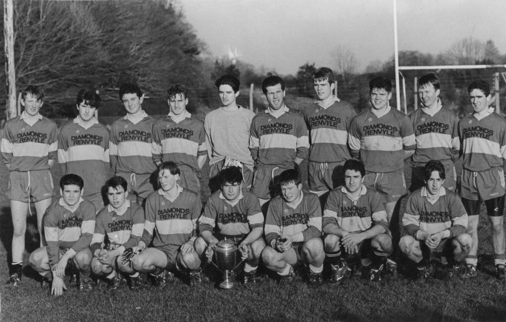Back Row (L to R):  Kevin Kane, Francis Lavelle, Benny Kane, Gerry Gannon, Jim O'Neill, Noel Ribbon, Niall O'Neill, Jason Walsh, Barry John Conneely and James Kane (Rossroe).  Front Row (L to R):  James Kane (Dawros), David Walsh, Liam Laffey, John McGreal (Captain), Johnny Salmon, Kenneth Wallace and Brendan O'Malley  Photo courtesy of Renvyle GAA.