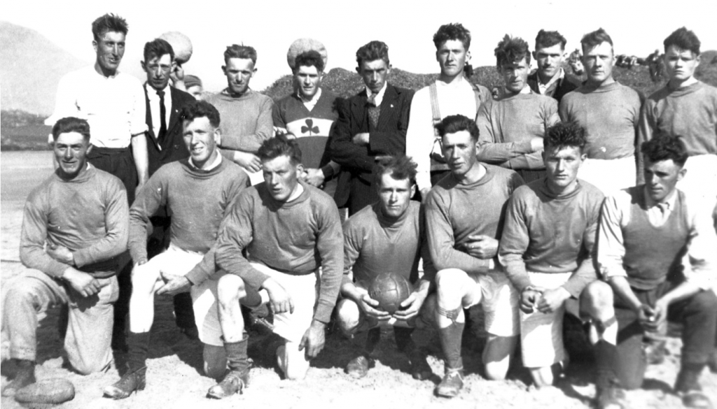 Lettergesh 1938: Back Row (L to R): Patrick Coyne, Patrick Gibbons, Martin Kane, Martin Kerrigan, Thomas Conroy, Dan Coyne, Patrick Kane, Patrick Kerrigan, Tom Coyne and Pat Kelly. Front Row (L to R): Petie O'Malley, Peter Faherty, Johnny Walsh, Patrick Mc- Donnell, Peter Coyne, John Coyne (Tom) and Michael Gibbons. Photo courtesy of Patrick Sammon