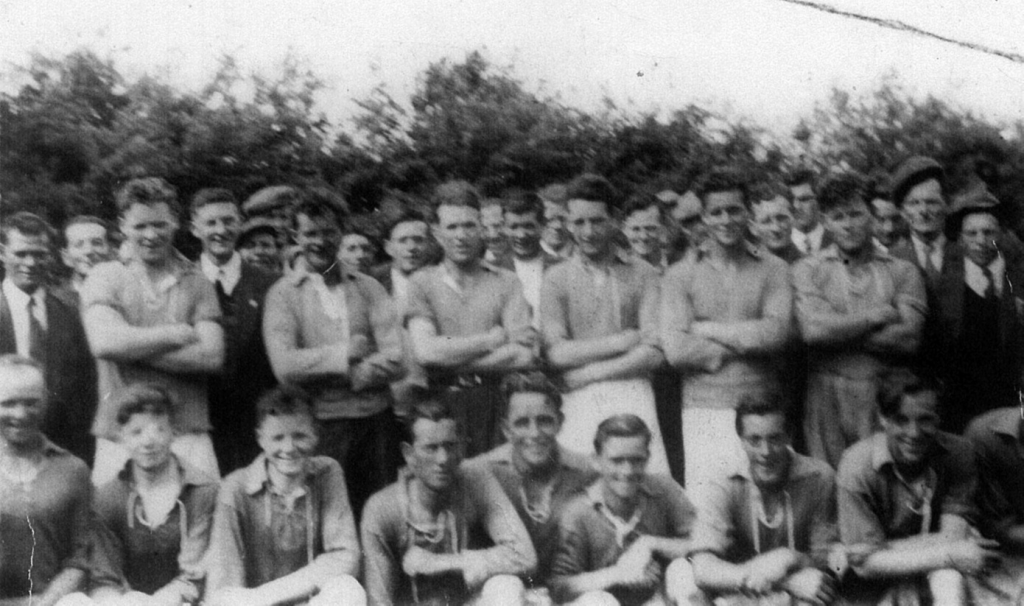 Ellistown 1958, Kildare Junior League Semi Finalists. Lettergesh native Mickey Walsh is pictured third from the left in the back row. Photo courtesy of Mary Dunne, James Dunne and Peter Gorry.