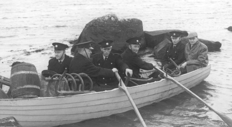 On poitín duty at Inishterk, Lettermullen, with other gardai in February, 1961.
